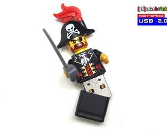Pirate USB Stick in original Lego® Minifigure 8 to 16GB