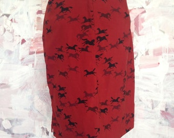 Horse Skirt Red and Black Western Southwest