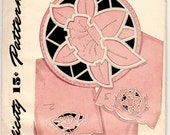 Vintage Sewing Pattern Cutwork Design Embroidery Transfer 1940's Simplicity 7167