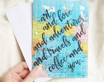 Art / Love / Adventures / You Card