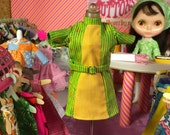 Super Mod Green and Yellow Blythe Doll Dress