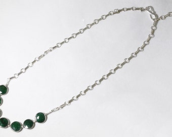 Emerald Statement Necklace Sterling Silver Precious Emeralds Genuine Emerald Jewelry BZ-N-109-Em/s