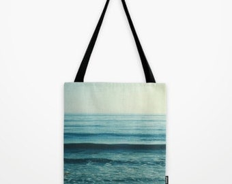 beach tote bag, blue bag, baby bag, beach market tote, ocean waves, blue fashion, California, shopping bag, book tote