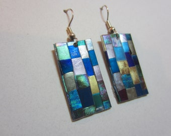 Quilt Mosaic Earrings pierced
