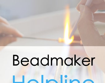 Lampwork Tutorial // Beadmaker Helpline // Personal One On One Coaching Via Skype