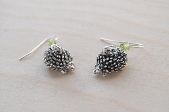 Adorable Teeny Tiny Hedgehog Earrings
