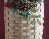 Door basket, Wall basket, Flower Basket, Hanging Basket, Cottage Rustic