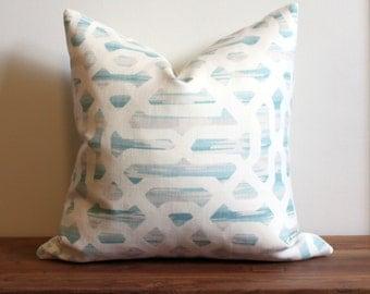 "Designer Pillow Cover by Kravet ""Frame in River"" from Jeffrey Alan Marks"