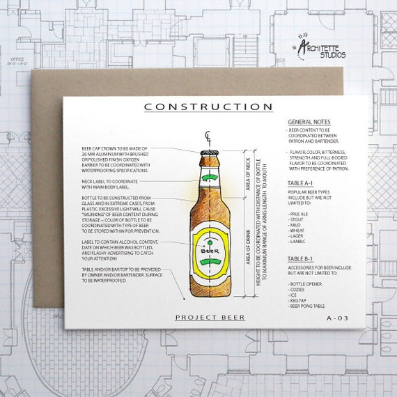 Project Beer - Blank Architecture Construction Card