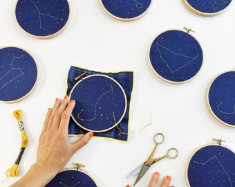Scorpio Zodiac Embroidery Kit - diy constellation embroidery kit