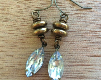 E490 Bronze Sparkle Earrings