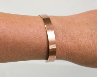"Brushed Cuff, 1/4"" copper cuff, copper jewelry, copper, anniversary gift, brushed metal, copper bracelet, stacylynnc, handmade"