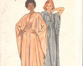 Butterick 3172 1970s Misses Shirred Batwing Caftan Pattern  Womens Vintage Sewing Pattern One Size Adjustable for Short Medium Tall UNCUT