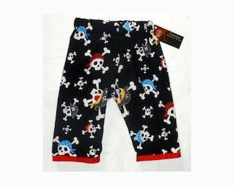 Pirate Pants - Skull And Crossbones -  Baby Pants - Boys Pants - Girls Pants - Black Pants - Nautical 3m 18m ON SALE