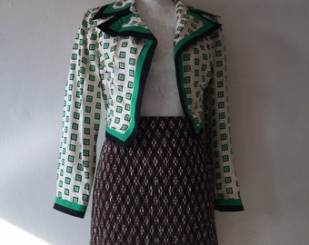 silk Vote jacket Peter Hahn vintage handpainted back cross
