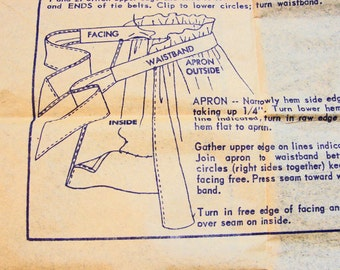 1950s Apron Pattern McCalls One size Half Apron - Party Apron Designed by Luis Estevez Vintage Sewing Pattern Easy to Sew