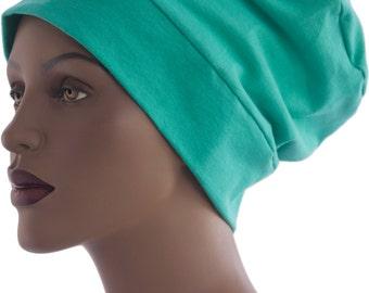 Slouch Hat Chemo Cap Sleep Cap Turban Hat Cotton Knit Beanie Handmade