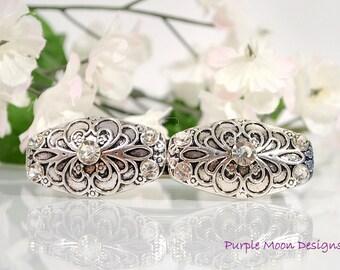 Silver Barrette, Silver Hair Clip