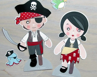 Printable PDF - Pirate Paper Dolls