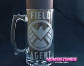 Agents of  S.H.I.E.L.D.   Stein / Beer Mug Etched Glass
