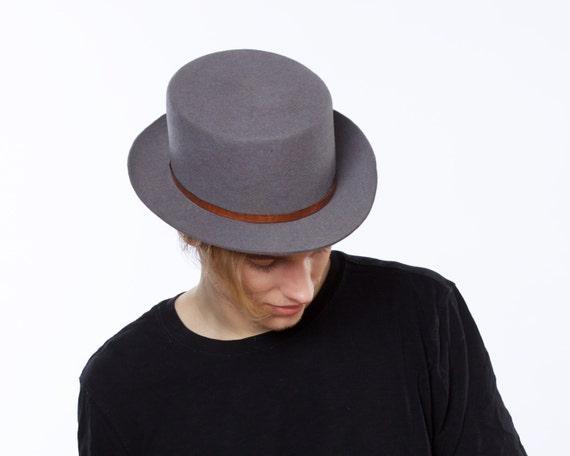 Spring Hat For Men Spring Accessories Men's Boater Hat Pork Pie Hat Spring Fashion Canotier's Hat Gaucho Hat 1980s Hat Bolero Hat Felt SALE