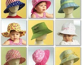 BABY HAT Sewing Pattern - Infant & Toddlers Hats 8 Styles 5 Sizes Uncut
