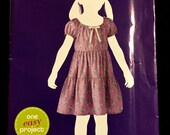 GIRLS PEASANT Dress Sewing Pattern - EASY Girl's Summer Tier Sundress - Retired Out-of-Print