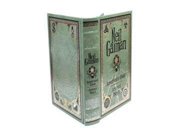 Neil Gaiman Hollow Book Boox Handmade Secret Storage American Gods Anansi Boys Green Illustrated Premium Gift Box - READY TO SHIP