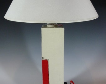 White Red Door Lamp 29+/-""