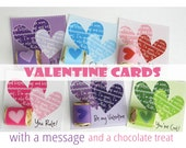 Valentine Cards & Nugget Wraps for a Sweet Treat   Heart Message