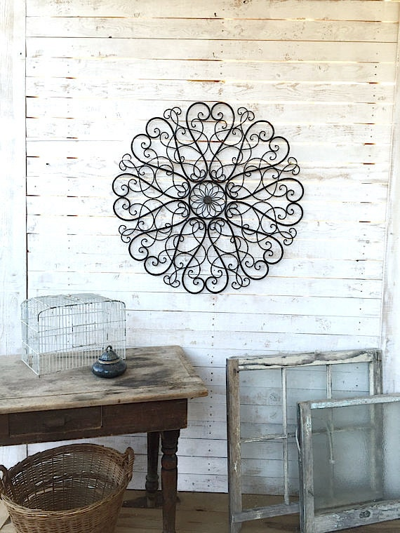 Large metal wall decor metal wall art metal art by camillacotton - Massieve decoratieve tuin ...