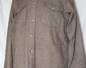 SALE! Vintage Woolrich Long Sleeve Wool Shirt, 1960's Era, Made in USA