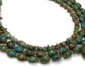 Turquoise Jasper handmade multi strand necklace