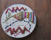 the waves of color hoop ... one of a kind, hand stitched abstract embroidery