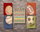 Sports Decor, Sports Theme,Sports Nursery,Vintage Style Sports Art,INSTANT DOWNLOAD, YOU Print,Boys Sports Decor,Boys Room Decor