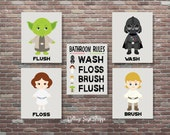 Bathroom Rules, Star Wars Bathroom Art, Star Wars Art, Star Wars Bathroom Rules, INSTANT DOWNLOAD,Star Wars Theme, Star Wars Bathroom Decor