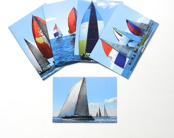 Sailboat Notecard Set, Blank Photo Cards Gifts for Sailors, Blank Cards with Envelopes, Note Card Set of 5, Photo Notecards, Nautical Cards