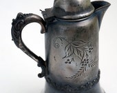 Miniature pitcher, Warren silver plate co. of New York #851, quadruple plate, Victorian era 1800s