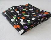Cloth Napkins Black Colorful Polka Dot Set of 6
