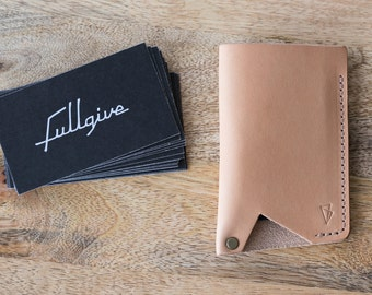 """Handmade Leather Card Holder - Wallet // """"Card Holder"""" by fullgive in natural"""