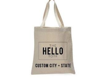 Tote Bag Upgrade | Location Customization, City, State or Region