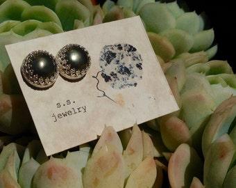 Fancy Pyrite Post Earrings