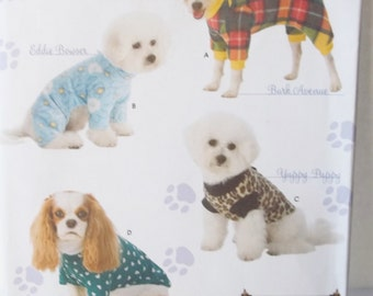 Dog Coat Simplicity 3939 Sewing Pattern Dog Accessories Canine Clothing Pet Vest Dog Shirt Size S - L UNCUT Puppy Cover Up All Dog Sizes