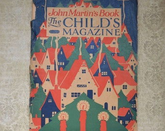 Vintage December 1926 John Martin's Book Child's Magazine