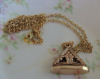 Antique Victorian 12K Gold Filled Watch Fob Necklace
