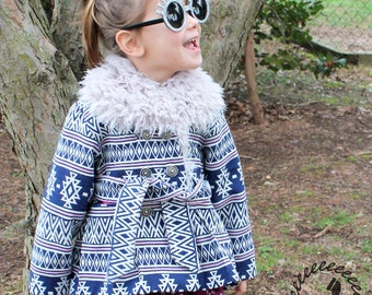 The Mackinaw Coat PDF sewing pattern for on trend kids winter coat