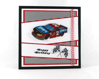 Birthday cards, race car, nascar, boys birthday cards, dads birthday cards, masculine birthday cards, kids birthday cards