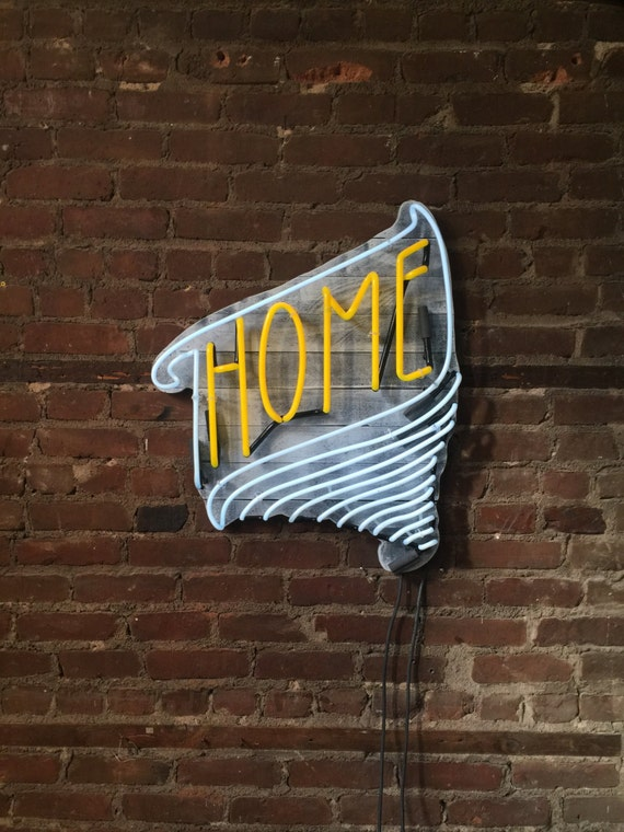 HOME Neon Sign, Ready-made