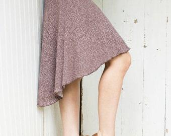 Hemp Hi-Lo Panel Skirt - Organic Clothing Made to Order - Choose Your Color - Hemp Organic Cotton A - Line High Low - Boho Chic Eco Fashion
