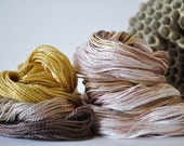 Smokey Quartz - Visible Mending - Sashiko Embroidery - Primitive Colors - Variegated SET of Hand Dyed Perle/Pearl Cotton Thread 5 & 8